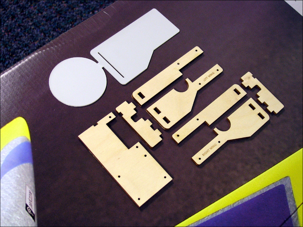 Laser cut retract kit for Parkzone Habu